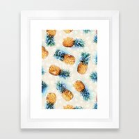 Pineapples + Crystals  Framed Art Print