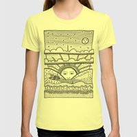 Paysage Womens Fitted Tee Lemon SMALL