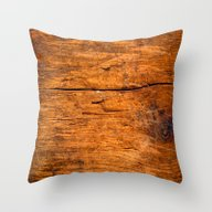 Distressed Wood Texture Throw Pillow