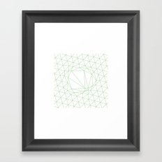 #111 A disruption in the force – Geometry Daily Framed Art Print