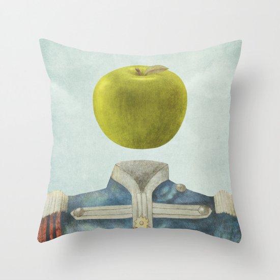 Sgt. Apple  Throw Pillow