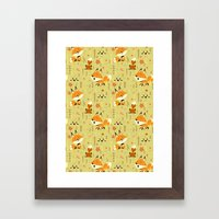 Foxes in the Spring Framed Art Print