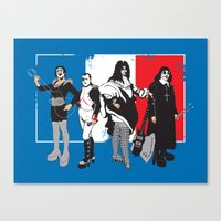 French Kissers Canvas Print