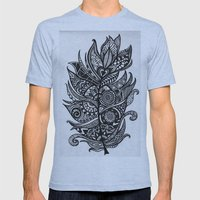 Zen Tangle Feather Mens Fitted Tee Athletic Blue SMALL