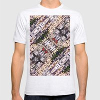 Scene Of City Structures Mens Fitted Tee Ash Grey SMALL