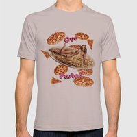 Que Pasta? Mens Fitted Tee Cinder SMALL