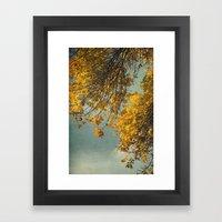 Yellow Autumn Framed Art Print