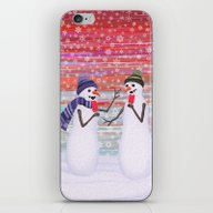Snowmen With Popsicles iPhone & iPod Skin