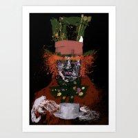 Hatter Splatter Art Print