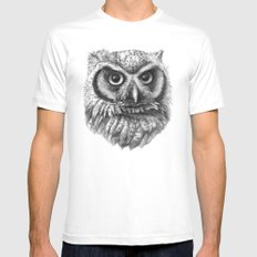 Intense Owl G137 SMALL Mens Fitted Tee White