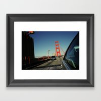 Golden Gate Bridge; Mid-… Framed Art Print