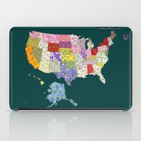 United States in Flowers iPad Case