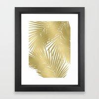 Palms Gold Framed Art Print