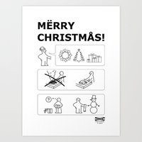 How To Have A Merry Christmas Art Print
