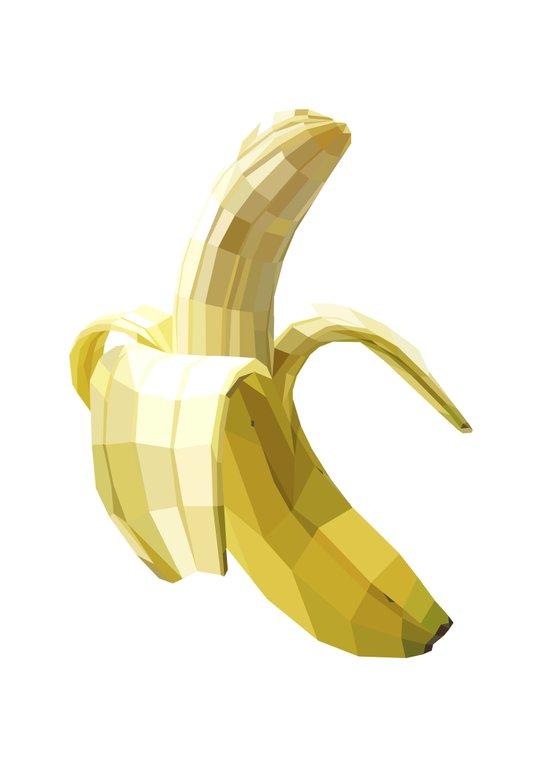 Banana (white variant) Art Print