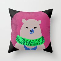 CIRCUS BEAR Throw Pillow