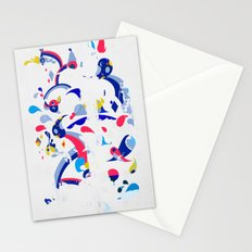 monsters off the wall Stationery Cards