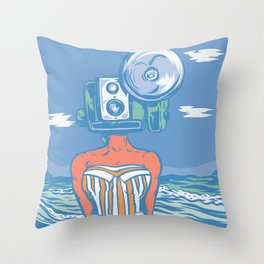 Throw Pillow - Greetings From The Beach - Thomcat23
