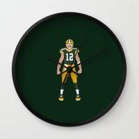 Cheese Head - Aaron Rodg… Wall Clock