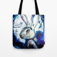 Moonlight Rabbit Tote Bag
