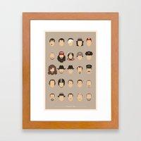 25 FACES OF TOM H Framed Art Print