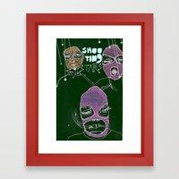 shooting stars an the rebels. Framed Art Print