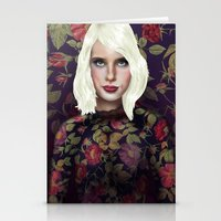 Young Girl and Flowers (Emma Roberts) Stationery Cards