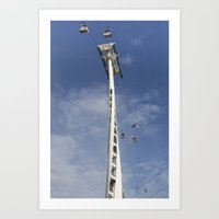 Emirates Cable Car And F… Art Print