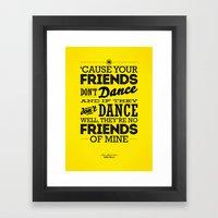 One Hit Wonder- Safety Dance in Yellow Framed Art Print