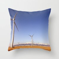 Windmill Country Throw Pillow