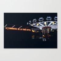 Carrousel Le Tour Eiffel Canvas Print