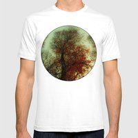 Red Leaf Mens Fitted Tee White SMALL