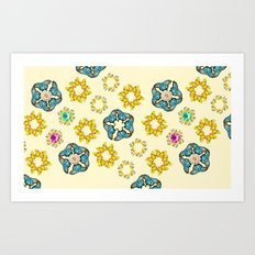 hippie butterfly Art Print