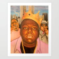 Notorious BIG or simply Biggie Smalls Art Print