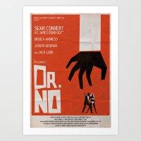 Orange Dr No Art Print