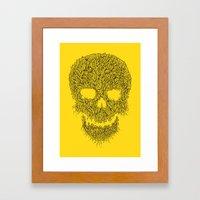 Yellow Skull Framed Art Print