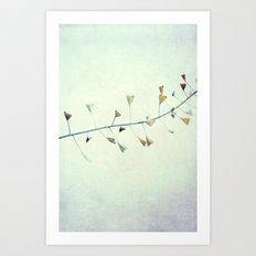 love is in the air... Art Print