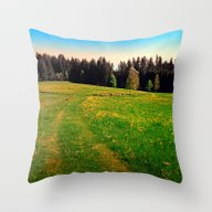Outdoors In Sunny Spring Throw Pillow