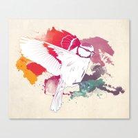 Bird Of Colour Canvas Print