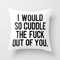 I Would So Cuddle The Fu… Throw Pillow