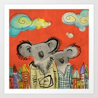 Koalas Art Print