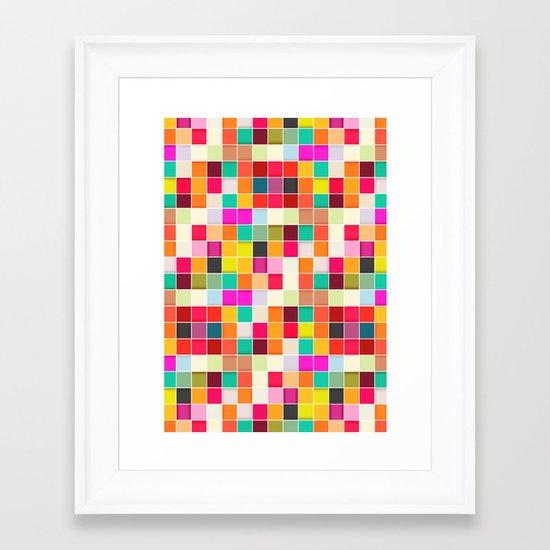 Colorful Rectangles Framed Art Print