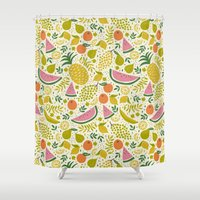 Fruit Mix Shower Curtain
