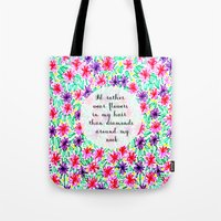 Flowers In My Hair Tote Bag