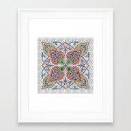 Blue Mandala 03 Framed Art Print