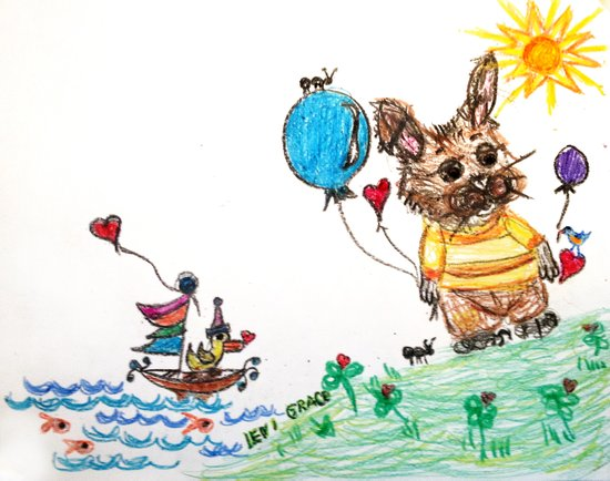 ::  Honey Rabbit on the Knoll :: Art Print