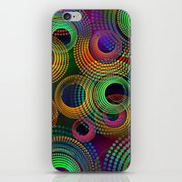 Multicolor Rings By Dots iPhone & iPod Skin
