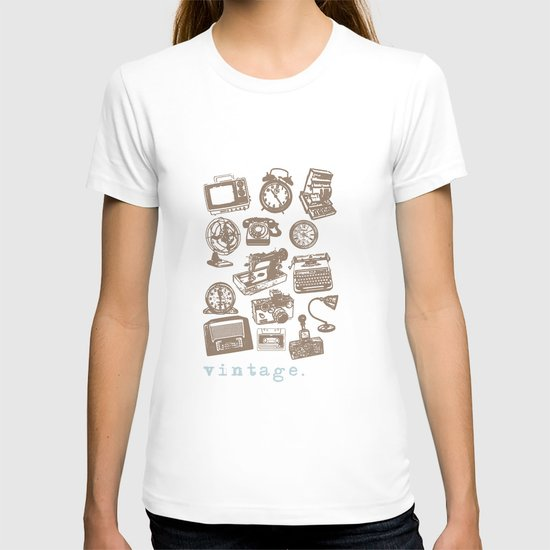 blue vintage  T-shirt