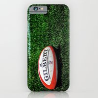iPhone & iPod Case featuring Rugby Time by Biff Rendar