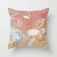 Throw Pillow featuring The Migration by Lloyd Winter